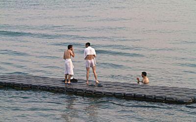 Swimmers in the Sea of Galilee (illustrative photo: Doron Horowitz/Flash90)