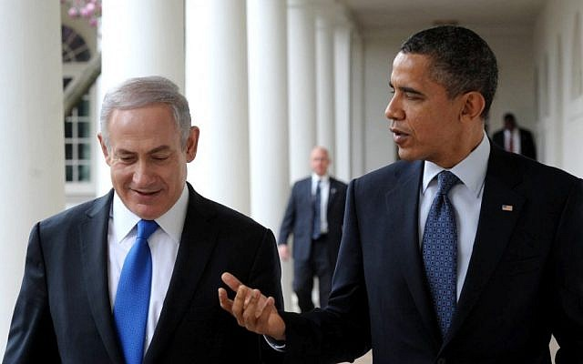 Prime Minister Benjamin Netanyahu, left, with US President Barack Obama in Washington, DC, last March (photo credit: Amos Ben Gershom/GPO/Flash90)