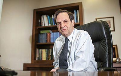 Dan Meridor in 2012 (photo credit Noam Moskowitz/ Flash90)