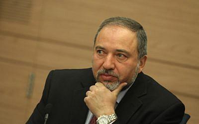 Israeli Foreign Minister Avigdor Liberman, June 2012 (photo credit: Miriam Alster/FLASH90)