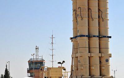 Arrow anti-ballistic missiles (Photo credit: Shay Levy/Flash 90)