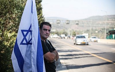 Tamir Hajaj makes his way to the Prime Minister's Residence in Jerusalem on July 24, 2012. (photo credit: Noam Moskowitz/Flash90)
