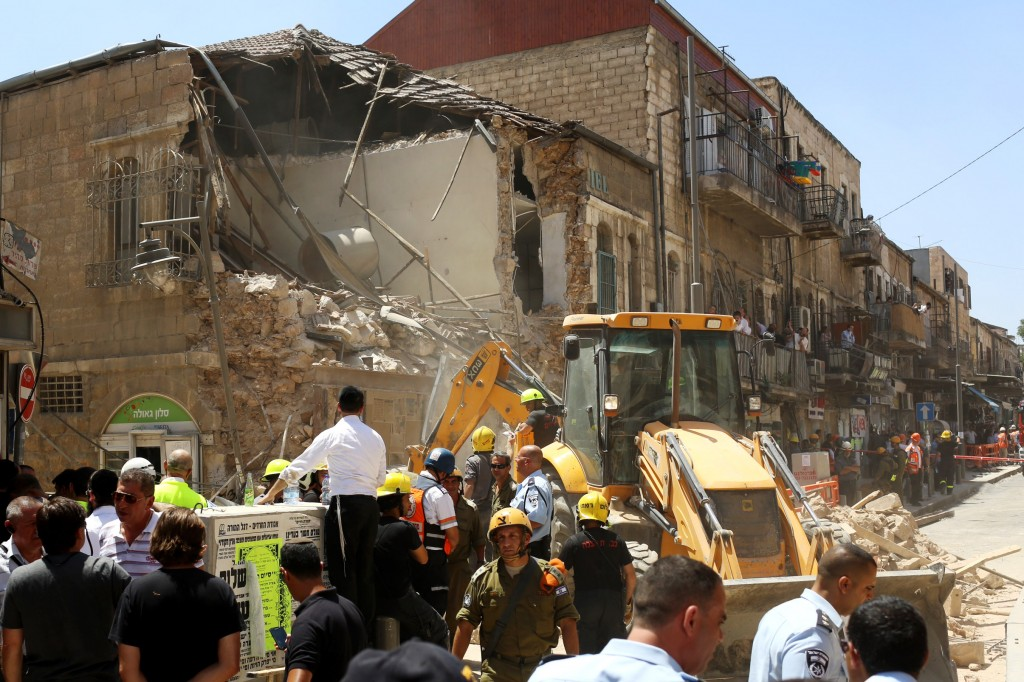 Jerusalem building collapse injures two  The Times of Israel