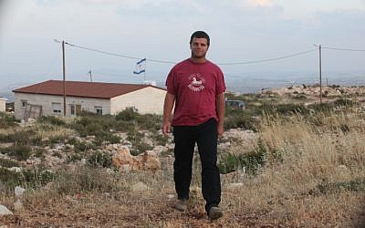 Itay Harel, one of the original settlers in Migron and the son of Yisrael Harel, the founder of the Council of Settlements (Photo credit: Flash 90)