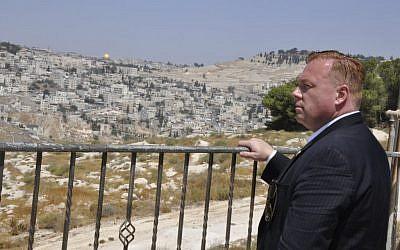Dan Halloran in Jerusalem this week. (Credit: Itzik Nissim)
