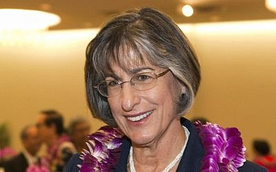 Former Hawaii Governor Linda Lingle. (AP Photo/Marco Garcia)