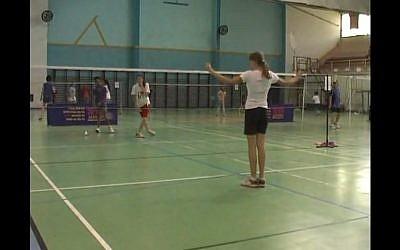 Israel's under 18 badminton championship (photo credit: screen capture 2468246800/Youtube)
