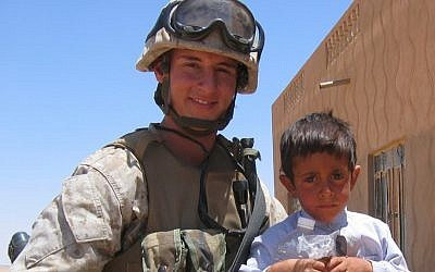 State Treasurer Josh Mandel, a Republican candidate for the US Senate in Ohio, is shown during his service as a Marine in Iraq. (photo credit: Citizens for Josh Mandel/JTA)