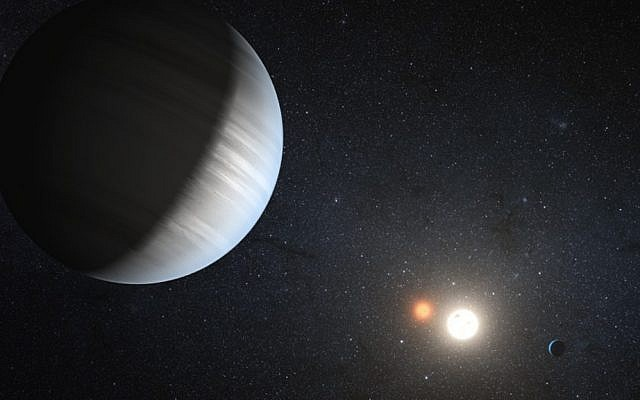 Illustrative rendering of a planet with similar dimensions to Earth (Photo credit: Courtest NASA)