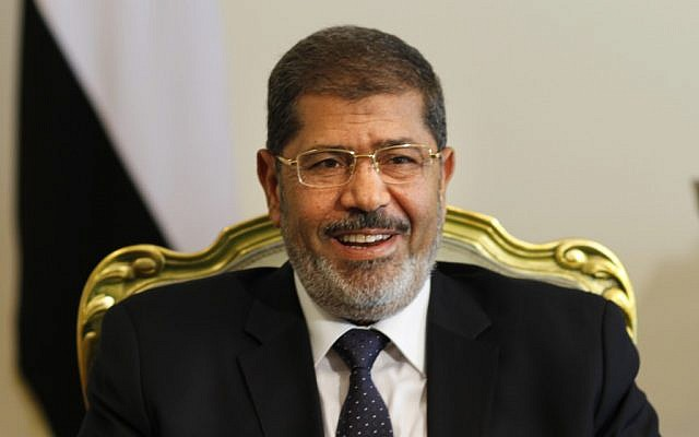 Egyptian President Mohammed Morsi (photo credit: Amr Nabil/AP)