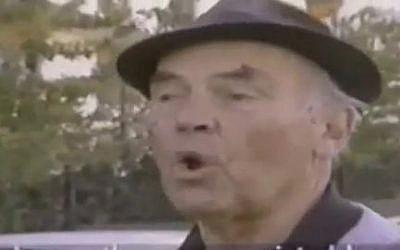 Convicted Nazi war criminal Erich Priebke (photo credit: screen capture, YouTube video)