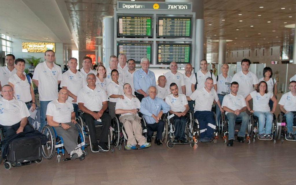 The Israeli Paralympic delegation to London 2012 (photo credit: Raz Livnat/ISAD)