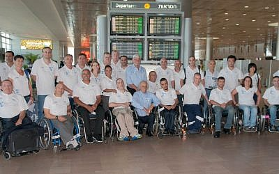The Israeli Paralympic delegation to London 2012 (photo credit: Raz Livnat/ISAD)