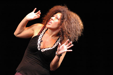 Rain Pryor performing 'Fried Chicken and Latkes.' (photo credit: Courtesy)