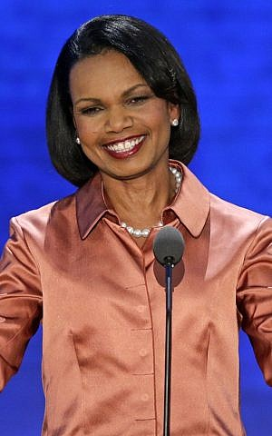 Former secretary of state Condoleezza Rice addresses the Republican National Convention in Tampa, Florida, on Wednesday, Aug. 29, 2012. (photo credit: J. Scott Applewhite/AP)