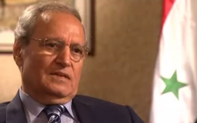 Syrian Vice President Farouk al-Sharaa (photo credit: screen capture, YouTube)