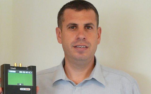 LiveU CEO Samuel Wasserman with the company's LU40i Video Uplink Solution (Photo credit: Courtesy)