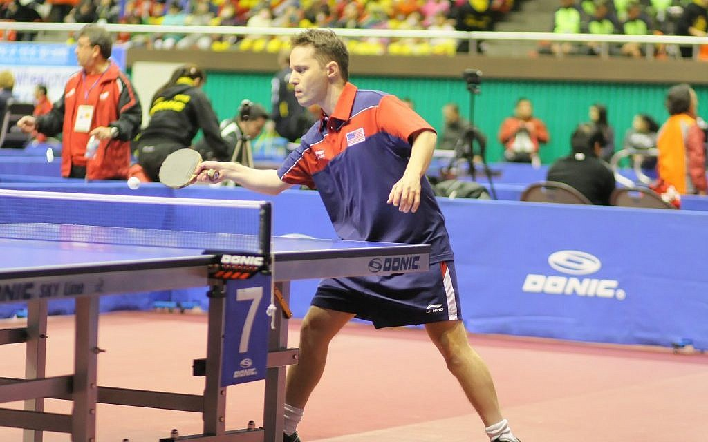Israeli-born table tennis player Tahl Leibovitz is competing for the U.S. team in the 2012 Paralympic Games in London. (photo credit: JTA/Gaël Marziou)