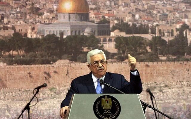 Palestinian  Authority President Mahmoud Abbas addresses the Palestinian leadership on November 16, 2011. (photo credit: Issam Rimawi/Flash90)
