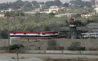 An Egyptian watchtower along the border on August 6, 2012. (photo credit: Abed Rahim Khatib / Flash 90)