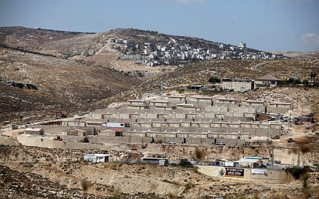 The Givat Hayekev site to which Migron residents are to move (Photo credit: Lior Mizrahi/ Flash 90)