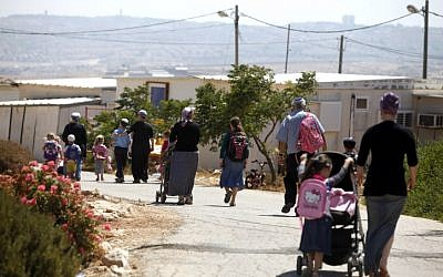 Residents of the evacuated settlement of Migron in 2012. (photo credit: Lior Mizrahi/Flash90)