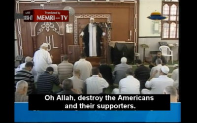 Hamas Deputy Speaker Sheik Ahmad Bahr (photo credit: MEMRI/ screenshot)