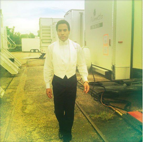 "Lenny Kravitz in costume on the set of ""The Butler"" (Courtesy Lenny Kravitz Facebook page)"