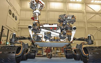 Model of the Curiosity rover (Photo credit: Courtesy JPL)