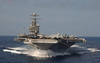 File: The USS Stennis on its way to the Persian Gulf in 2012. (Department of Defense/Randi R. Brown, US Navy)