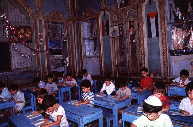 Jewish school children in Damascus in 1991 (photo credit: David Lisbona)