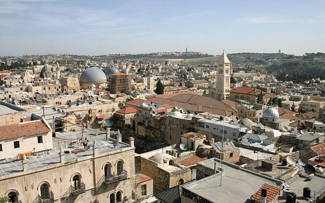 The view from the Tower of David into the Old City (photo credit: Courtesy)
