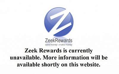 ZeekRewards.com was shut down on suspicion of running a world-wide Ponzi scheme (photo credit: screen capture ZeekRewards.com)