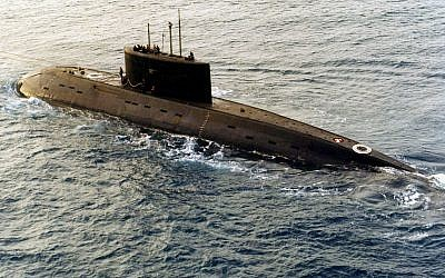 A Russian-built, Kilo-class diesel submarine (Courtesy US DoD)
