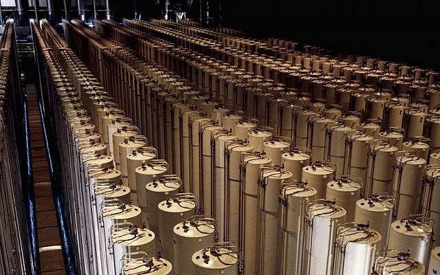 Illustrative image of centrifuges enriching uranium (photo credit: US Department of Energy/Wikimedia Commons)