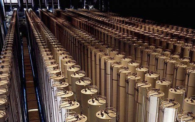 Illustrative. Centrifuges enriching uranium. (Public Domain/US Department of Energy/Wikimedia Commons)
