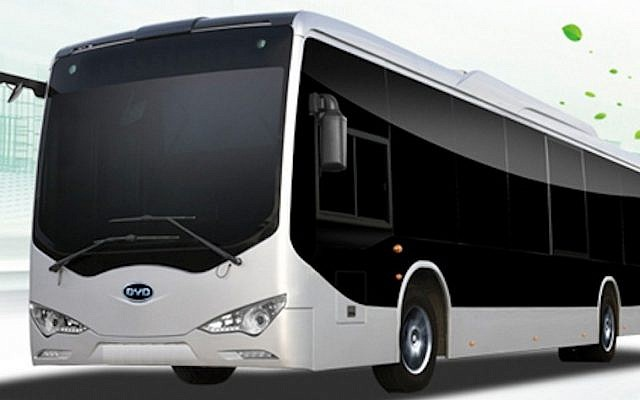 A BYD electric bus (Photo credit: Courtesy)