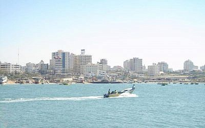 The waters off the coast of Gaza. (photo credit: CC-BY-SA ProIsraeli, Flickr)