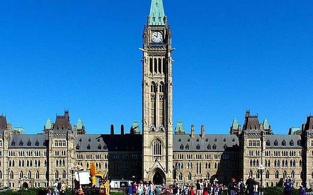 Centre Block of Parliament Hill in Ottawa, Canada. (photo credit: CC BY Kumar Appaiah, Wikimedia Commons)