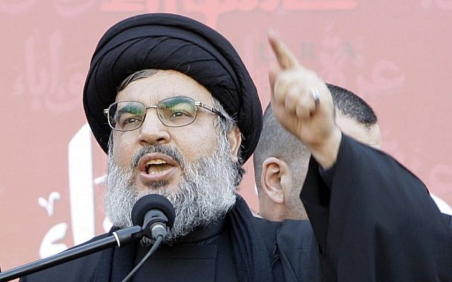 Hezbollah leader Hassan Nasrallah in December 2011 (photo credit: AP/Bilal Hussein)