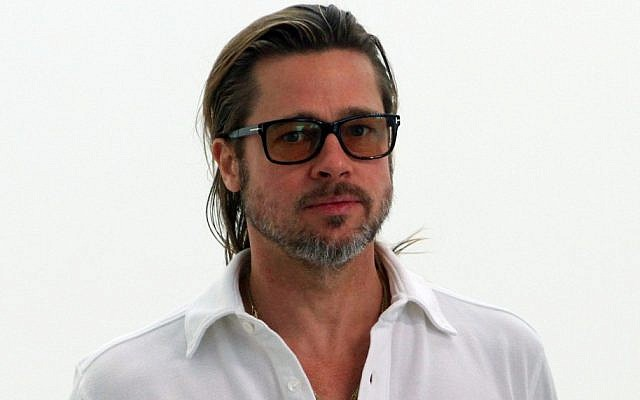 US actor Brad Pitt, pictured in Germany in June. (photo credit: AP Photo/dapd, Andreas Fischer)