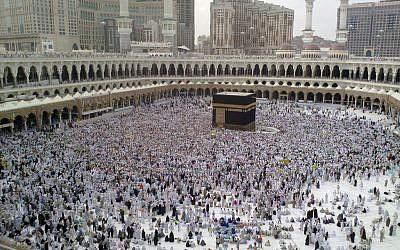 The Kaaba in Mecca (photo credit: CC BY-SA Al Jazeera English, Flickr)