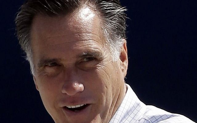 Republican presidential candidate Mitt Romney (photo credit: AP/Charles Dharapak)
