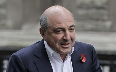 This Monday, Oct. 31, 2011 file photo shows Russian tycoon Boris Berezovsky as he arrives at the high court in London. (photo credit: AP)
