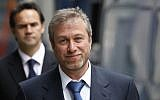 This Tuesday, Oct. 4, 2011 file photo shows the owner of England's Chelsea Football Club, Russian tycoon Roman Abramovich as he leaves court in London. (photo credit: AP)