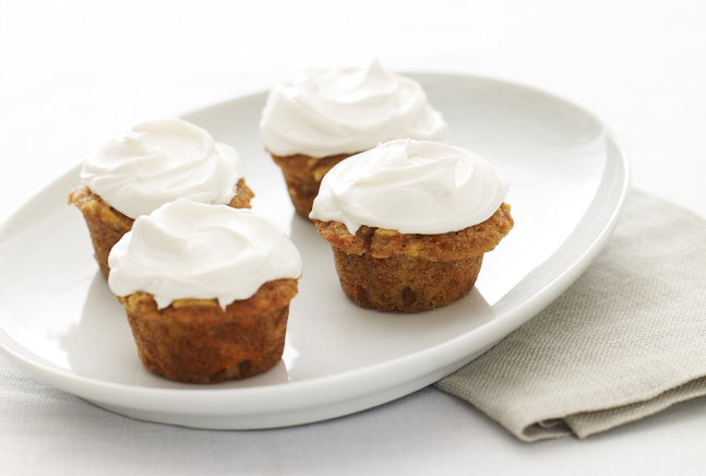 Carrot Apple Mini Cupcakes make the perfect little sweet treat at the end of the Rosh Hashanah meal. (photo credit: JTA)