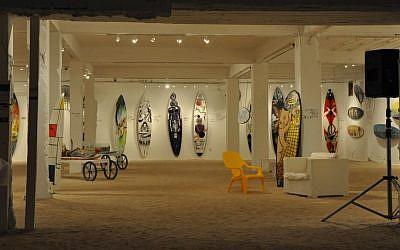 Surf Writers exhibit at HaRiviera, Bat Yam (photo credit: Michal Shmulovich)