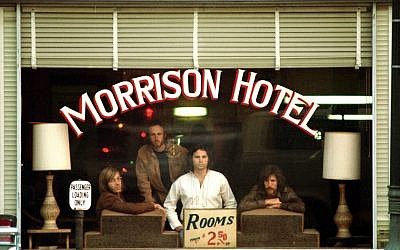 The iconic Morrison Hotel cover for The Doors (photo credit: Henry Diltz)