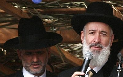 Two bulls in a china shop? Ashkenazi Chief Rabbi Yona Metzger (right) and Interior Minister Eli Yishai (photo credit: Uri Lenz/Flash90)