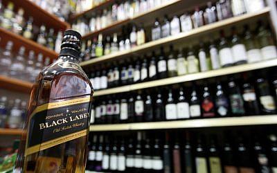 Illustrative photo of alcohol bottles (photo credit: Abir Sultan/Flash90)